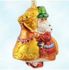 Pageantry Santa, Radko Ornaments, 1997, 97-139-0, Santa in red robe; gold horse,, Christmas, Mint with Tag