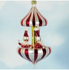 Peppermint Twist - Santa Claus Carousel, 1996, 96-020-0, Italian, Red & white, Mint with Tag