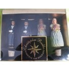 """Wedding Wishes Bottle Stoppers""  Set of 4, Christopher Radko Home For the Holiday, 2001, 01-6532-0, Wedding Bride & Groom Bottle Stoppers, Tuxedo, bouquet, Mint in Box"