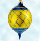 Faberge - Blue & Gold, Radko Christmas Ornament, 1997, 87-034-4, Store exclusive Ltd, Excellent in Box