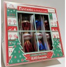 Fantasia Party Pop - Set of 4, Christopher Radko Christmas Ornament, 2003, 1010454, Gold Red Blue Orange, Mint with Tag, Box