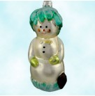 Hobe Sound Snowman, Patricia Breen Christmas Ornaments, 1996, 9626, Retired & Variant, fish bow tie, Mint with Tag