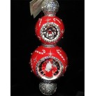 Fete de Noel - Red with Candy Canes, Patricia Breen Christmas Ornament, 2015, 3527, 4 Tier, bejeweled, reflector, Mint with Tag