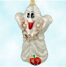Boo Who?  Halloween, Ghost - Ornaments for Every Season, Christmas Radko Christmas Ornament, 1998, 98-266-0, QVC  Chain; Jack O' Lantern, Mint with Tag