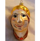"""Hubbard's The Name, Christopher Radko Christmas Ornament, 1995, 95-206-0, aMagic 25, Smiling """"Old Mother Hubbard"""" nirsery rhyme, Mint with Tag"""